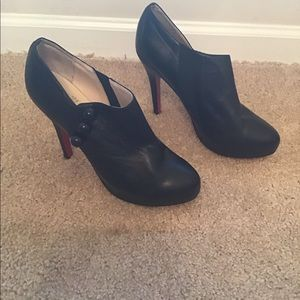 Christian Louboutin Black Heel Booties Buttons